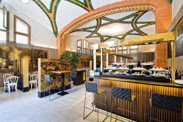 café modernista Barcelona