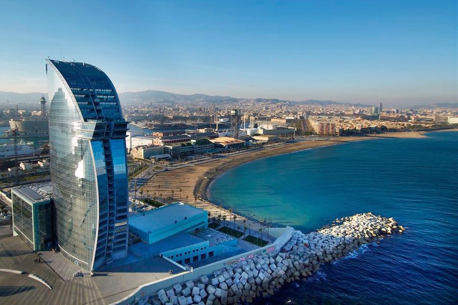 Mejores playas de Barcelona. Playa Barcelona Hotel Wella