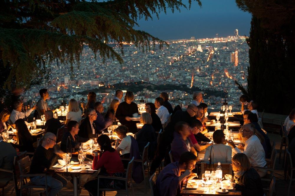 cena con estrellas observatori fabra