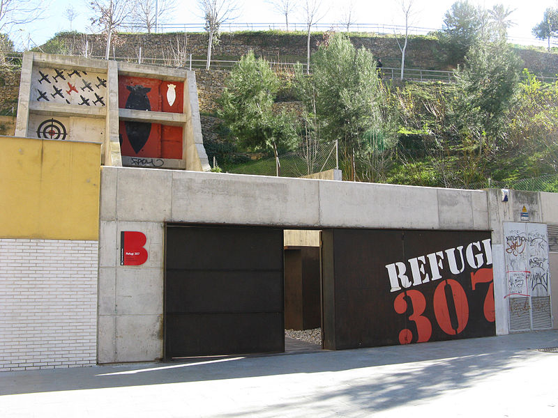 Refugi poble sec, refugios de guerra en barcelona, war shelters Barcelona