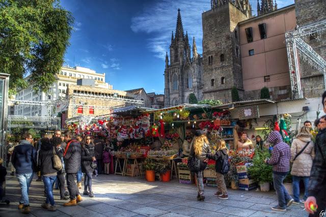 santa llucia, ferias navidad barcelona