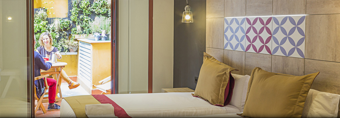 Hotel Boutique Hostemplo - Habitación doble con terraza 3