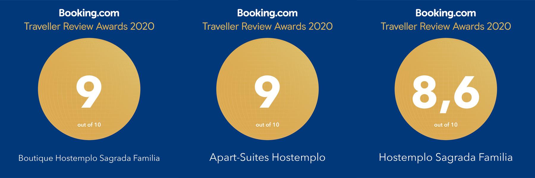 En diciembre de 2019 Hostemplo recibe una valoración de 9 según la prestigiosa Booking.com.